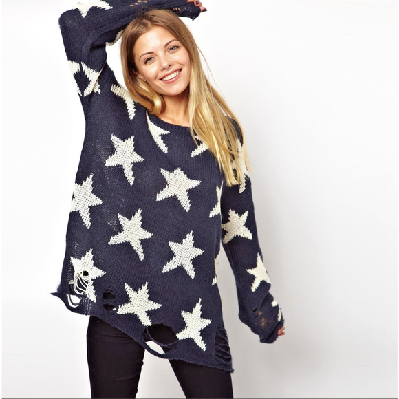 "Wildfox ""Seeing Stars"" Lennon sweater (Navy)"